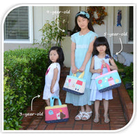 Children's Tote - House (Blue)-Bag-PEGlala-PEGlala.com