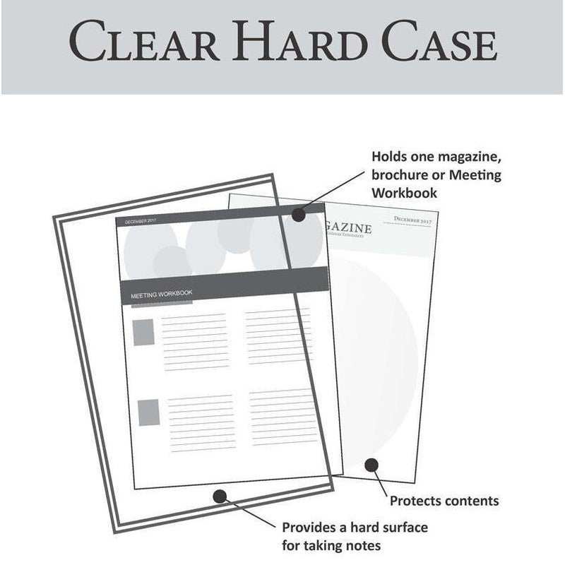 Clear Hard Case for Meeting Workbook or Magazines-Case-PEGlala-PEGlala.com