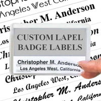 Custom Lapel Badge Labels (7 ct)-Labels-PEGlala-PEGlala.com