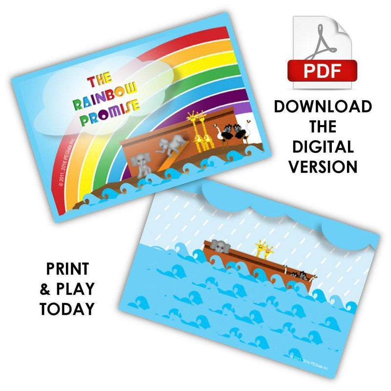 graphic about Printable Board Games Pdf titled (Electronic) The Rainbow Assure Board Match