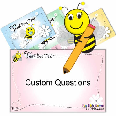 (Digital) Truth Bee Told (Custom Fill-In Questions)-PDF-Fun Bible Games-PEGlala.com
