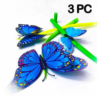 Flying Butterfly Pen (3 PC) - Blue  PEGlala Pen peglala-com.myshopify.com PEGlala.com