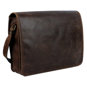 Genuine Buffalo Leather Satchel Bag (Mulberry)-Bag-Rustic Town-PEGlala.com