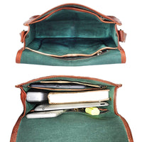 Genuine Goat Leather Messenger Bag-Bag-Rustic Town-PEGlala.com