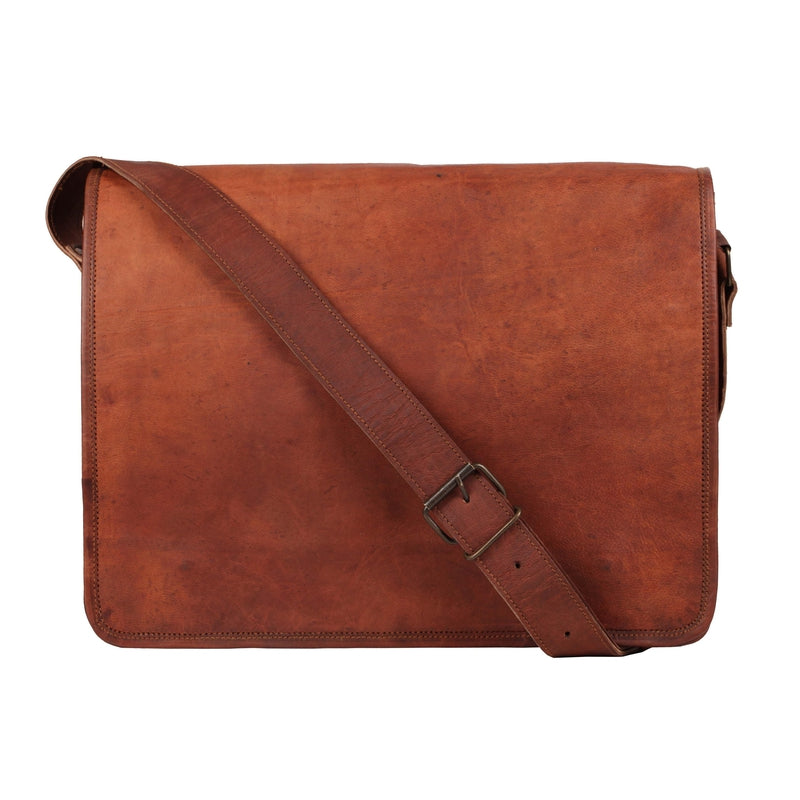 Genuine Goat Leather Satchel Bag-Bag-Rustic Town-PEGlala.com