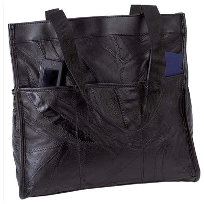 Genuine Leather Large Tote Bag-Bag-Embassy-PEGlala.com