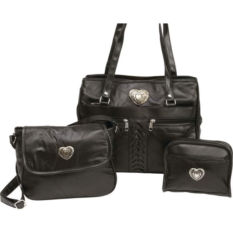 Genuine Leather Service Bag (3pc Set)-Bag-Embassy-PEGlala.com