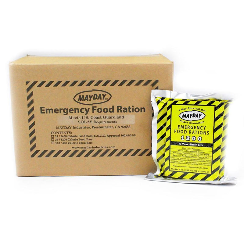 Mayday Emergency Food Bar 1200 Cal (36/case)-Emergency Kit Refill-PEGlala.com