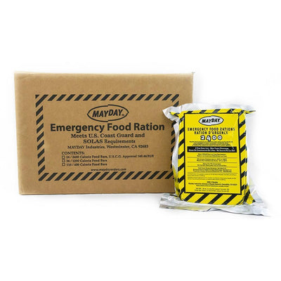 Mayday Emergency Food Bar 2400 Cal (24/case)-Emergency Kit Refill-PEGlala.com