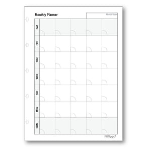 Refill - Monthly Planners-Notebook Refill-PEGlala.com