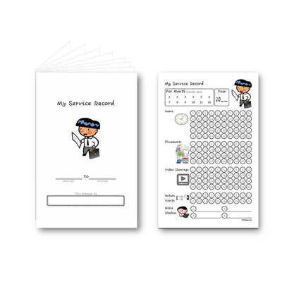 Service Record Booklet for Boys-Booklet-PEGlala.com