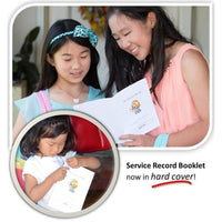 Service Record Booklet for Girls-Booklet-PEGlala.com