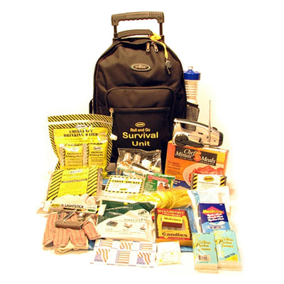 Survival Backpack Kit on Wheels (1 Person)-Emergency Kit-PEGlala.com