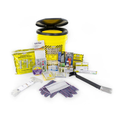 Toilet Bucket Emergency Kit - Deluxe (1 Person)-Emergency Kit-PEGlala.com