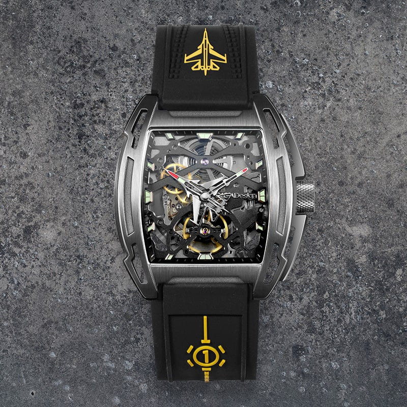 Aircraft Carrier Automatic Mechanical Skeleton Wristwatch