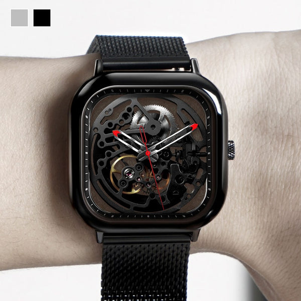 Full Hollow Automatic Mechanical Skeleton Wristwatch