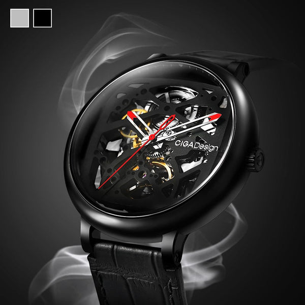 Fang Yuan Automatic Mechanical Skeleton Wristwatch