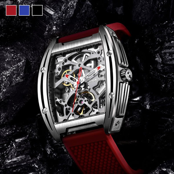 Z-Series 316L Stainless Steel Automatic Mechanical Skeleton Wristwatch