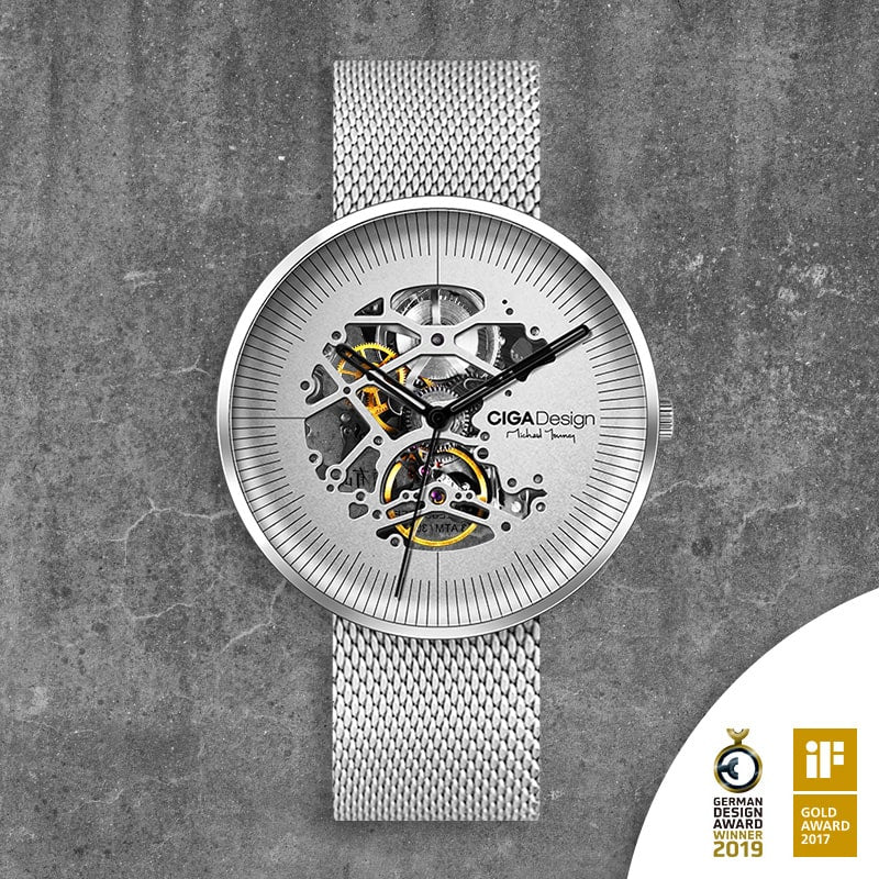 Michael Young Series Automatic Mechanical Skeleton Wristwatch