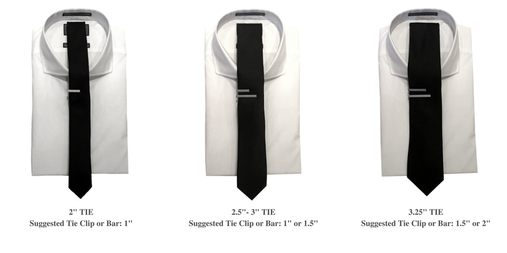 How to wear a tie clip and a tie bar based on the size of the tie