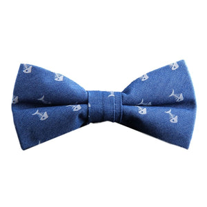 Light Blue Dead Fish Bow Tie