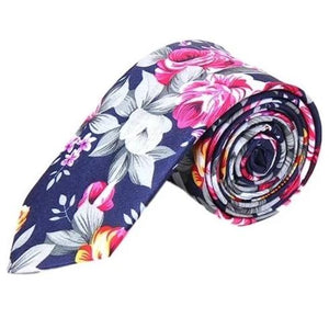 Colorful Flower Tie
