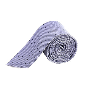Light Gray Grey Polka Dot Tie Necktie