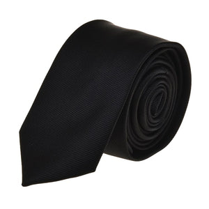 Simple Black Tie Necktie