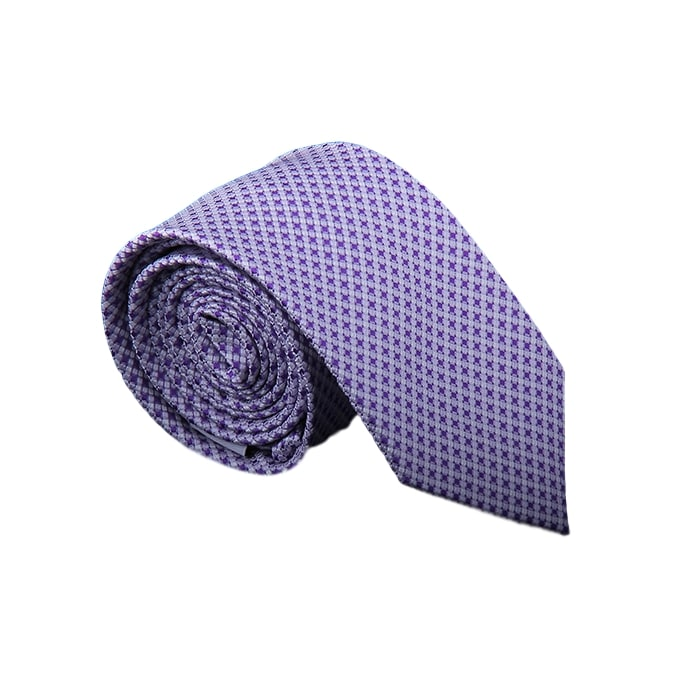 Light Purple patterned Silk Tie