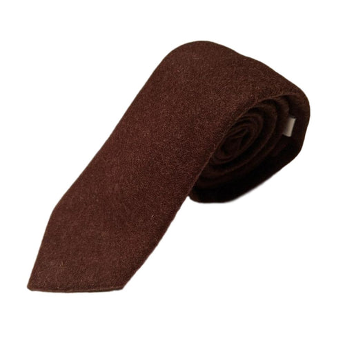 Wool Brown Skinny Tie