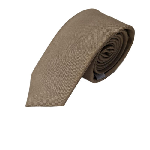 Simple beige skinny tie