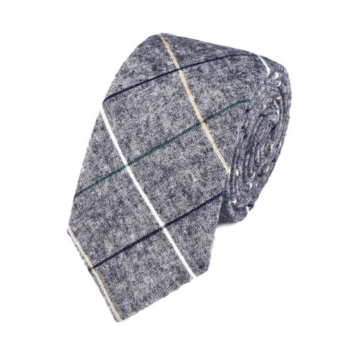 Light Gray plaid tie