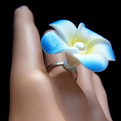 Plumeria Beach Bride Wedding Ring