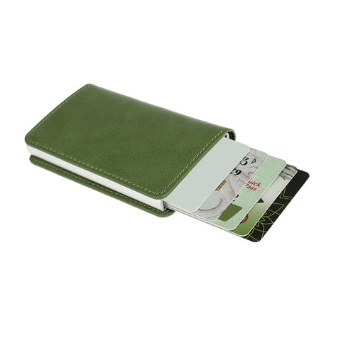 Metal Men Card Holder RFID Aluminum/Leather Credit Card Holder