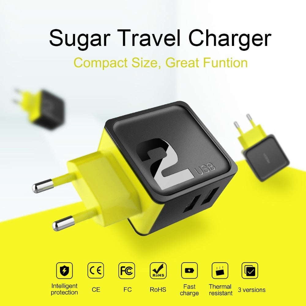 Rock Universal Travel Adapter Charger Bolt Mobile Phone Electronic Components Circle