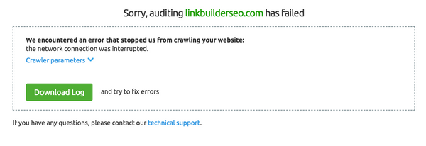 SEMrush Shopify Crawl Error