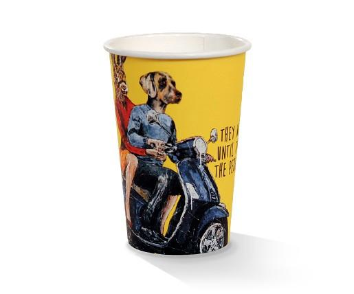 10oz PLA coated Double Wall Cup /Art-Print