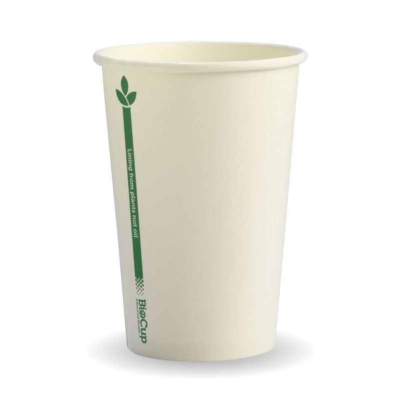 10oz BioCup Single Wall Green Line