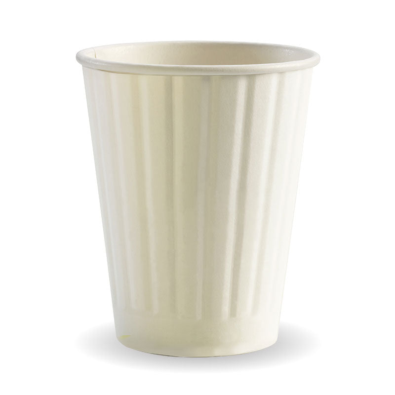 12oz Double Wall Plain White BioCup