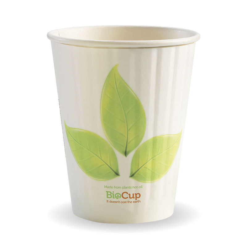 12oz Double Wall Green Leaf BioCup