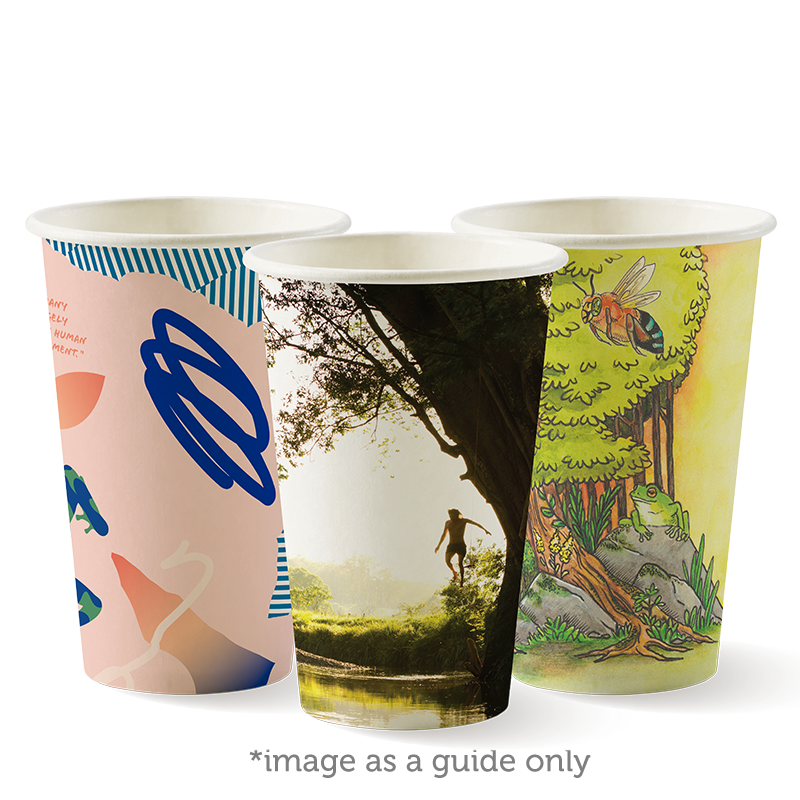 12oz (80mm) Single Wall Art Series BioCup