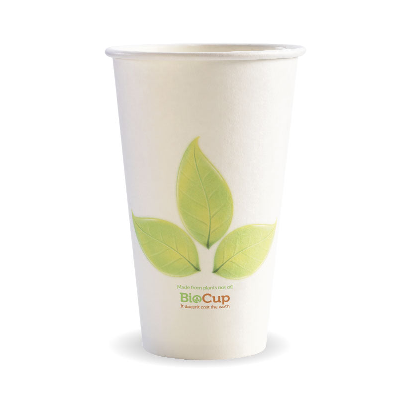 16oz Single Wall Green Leaf BioCup