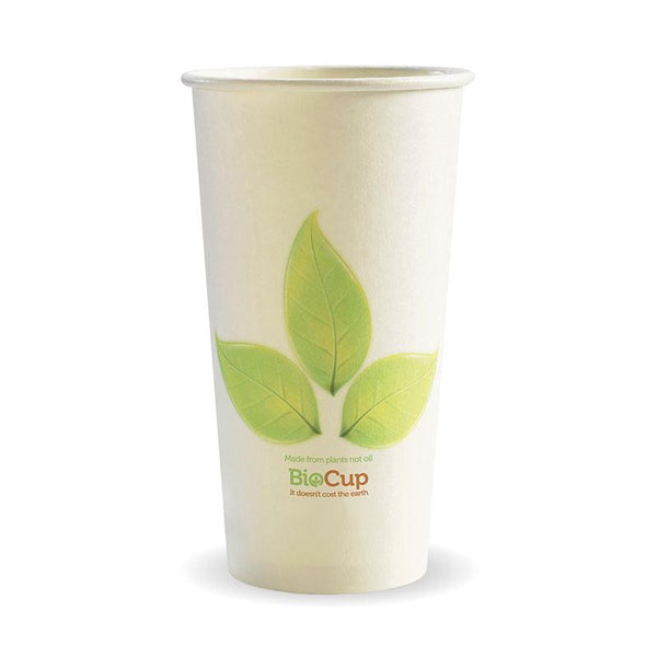 20oz Single Wall Green Leaf BioCup