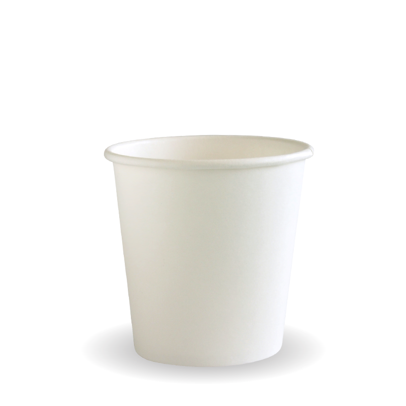 4oz Single Wall White BioCup