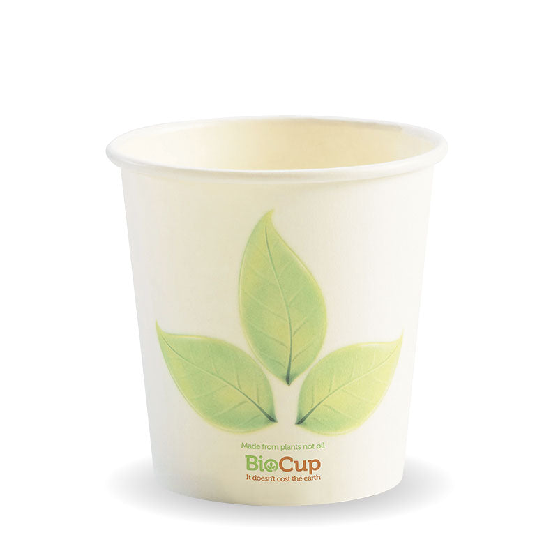 4oz Single Wall Green Leaf BioCup