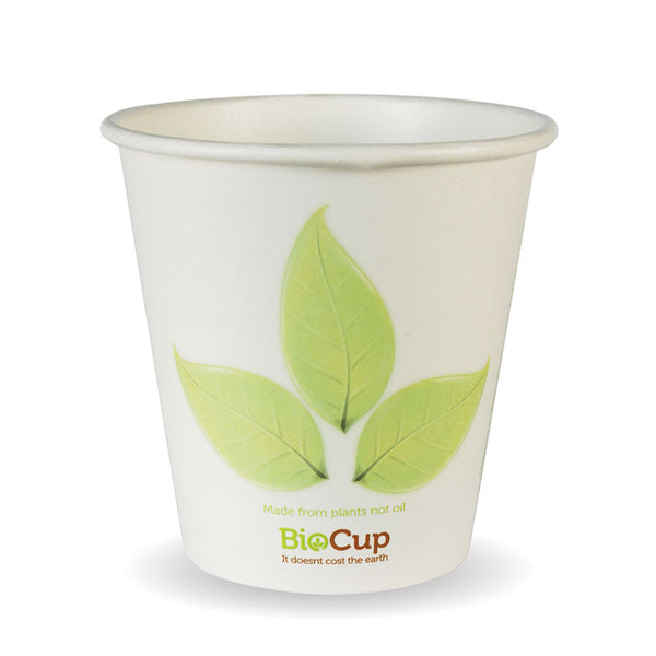 6oz Single Wall Green Leaf BioCup