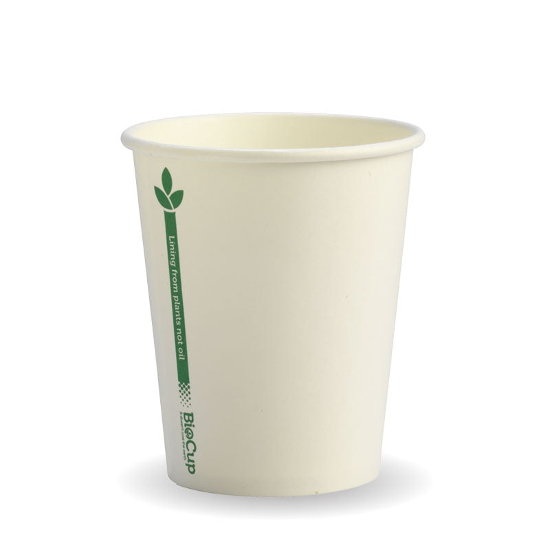 8oz Single Wall Green Line BioCup
