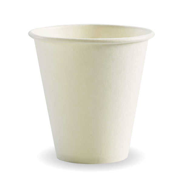 8oz (90mm) Single Wall White BioCup
