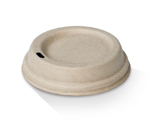 6/8/10oz Bagasse Lid (80mm) / Natural