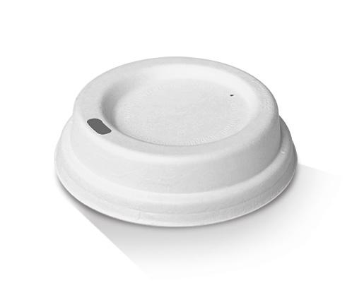 6/8/10oz Bagasse Lid (80mm) / White